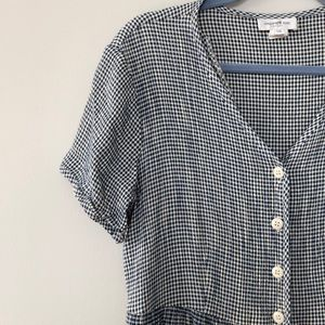 vintage gingham checkered plus size sun dress